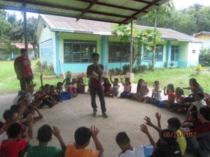 Story Telling with the Children of Brgy. San Roque, Guimaras, Iloilo.