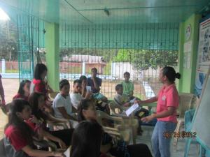 True Love Waits Seminar for the Youth in Brgy. San Roque, Guimaras, Iloilo with Ms. Ma. Corazon Buala as Speaker.