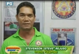 Screen shot of ABS-CBN's video in Youtube featuring the inventor of 2BIG POWER